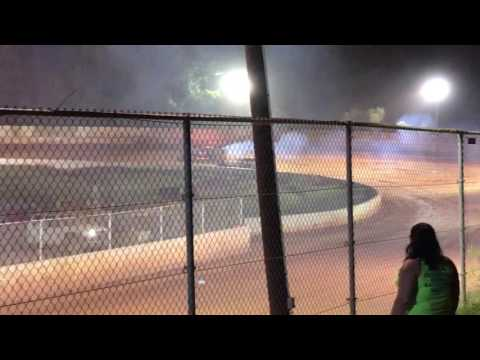 East Lincoln Speedway NC - On Fire Win