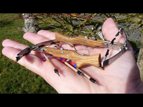 How to make a Mini Crossbow Scale 1:10 smallest shooting