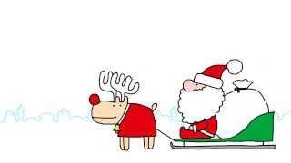 メリークリスマス! 脱力系ゆるゆるアニメーション。 何も起らなくてご...