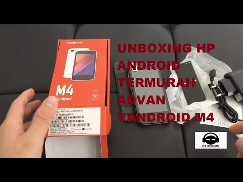UNBOXING HP ANDROID TERMURAH ADVAN VANDROID M4 INDONESIA