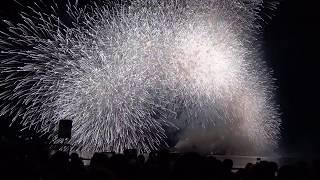 第30回なにわ淀川花火大会 07 グランドフィナーレ「なにわの夜空に金銀大瀑布」