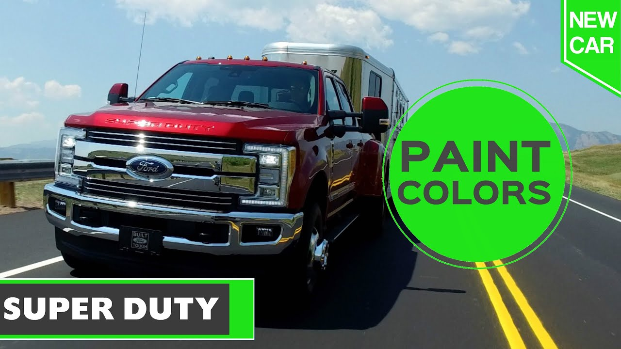 2017 Ford Truck Colors >> 2017 Ford Super Duty Paint Colors Youtube