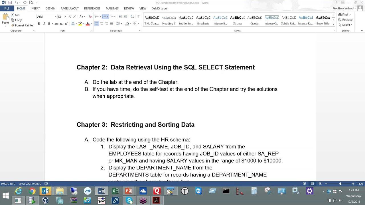 2015 12 09 13 29 Oracle Database 11g SQL Fundamentals I 1 - YouTube