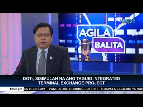 Integrated transport terminal in Taguig to be operational in the first half of 2020