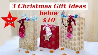 Three Christmas Gifts Ideas below $10 & DIY Gift Tags