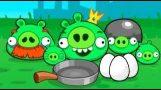 Мультик ИГРА для детей про энгри бердз уровень 15 Angry birds Злые птички энгри бердз против свинок
