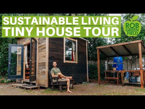Simple and Sustainable Living in My 100 Square Foot Tiny House