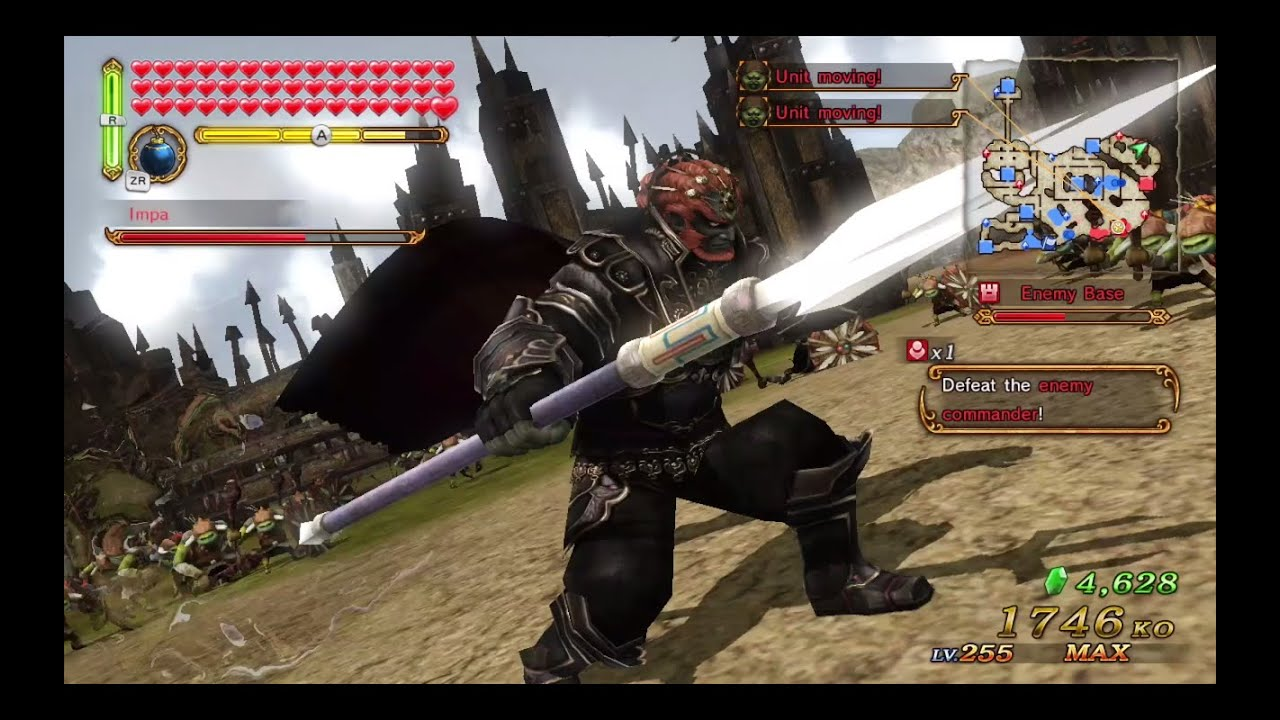 Hyrule Warriors The Demon King Ganondorf Trident Gameplay Thief S Trident Lv1 Weapon