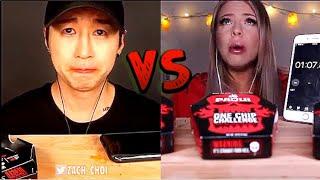 Zach Choi ASMR vs HunniBee ASMR  - Who Ate It Better?