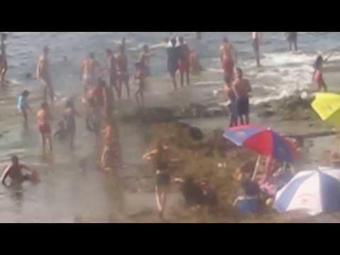 La plage  du veau  Marin pres de Cherchell Algerie