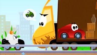 Weesix мультфильм для мальчиков. Машина Висикс прячется от полиции с сиреной в грузовике