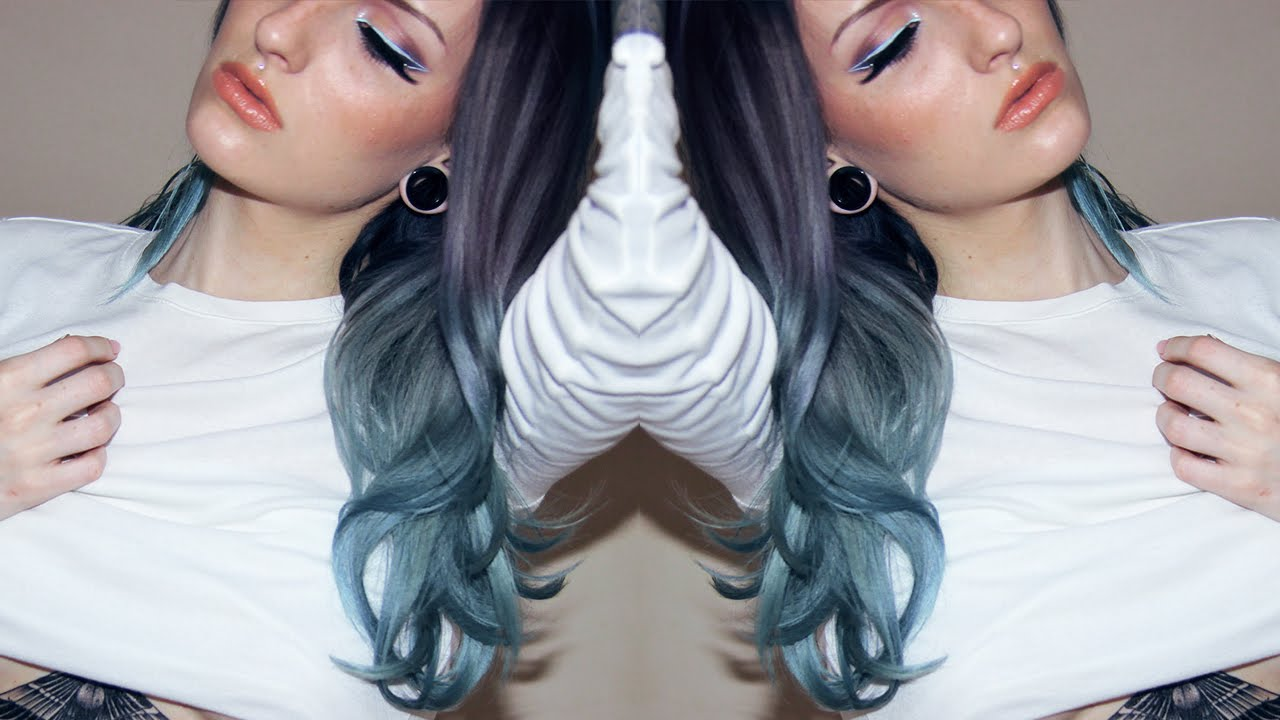 How I Dye My Hair Purple Steel Blue Gradient Directions