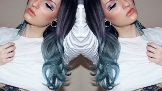 How I Dye My Hair Purple Steel Blue Gradient | Directions Alpine Green, Midnight Blue + Lilac