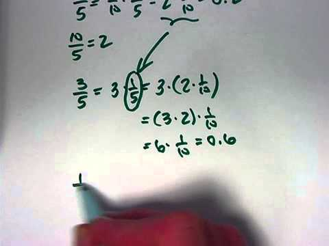 More on Percents, Convert 1/5, 3/5, 1/3, & 2/3 to Decimals, Mark ...