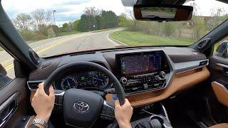 2020 Toyota Highlander Hybrid Platinum AWD - POV Driving Impressions