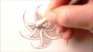 How to draw tanglepattern Fengle
