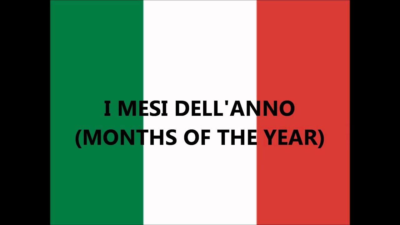 Italian lessons: days of the week - months - seasons (giorni della ...