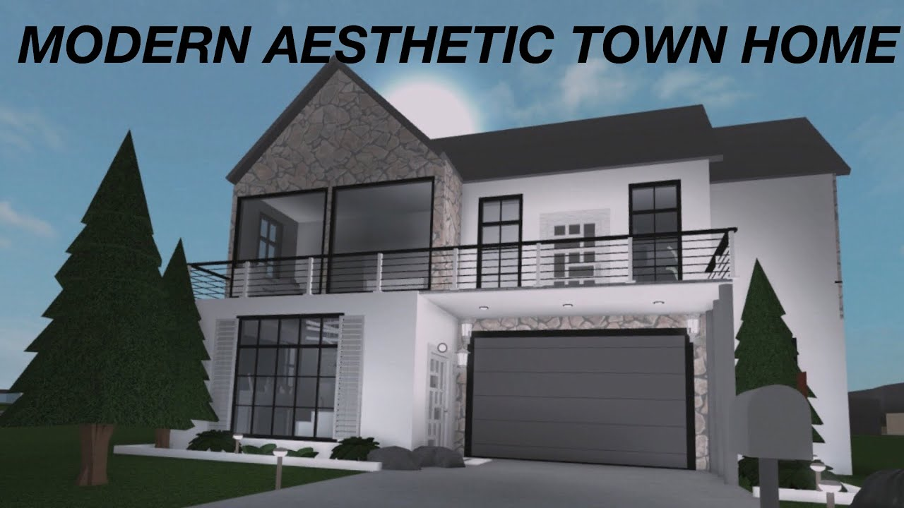 Roblox Welcome To Bloxburg Modern Aesthetic Town Home 50k