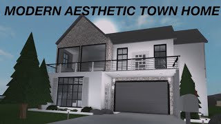Roblox: Welcome to Bloxburg | Modern Aesthetic Town Home | 50k |