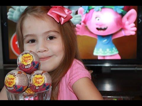 Видео: Тролли 2016 мультфильм на русском.Шоколадные шары Чупа-Чупс Тролли.Trolls Cartoon 2016