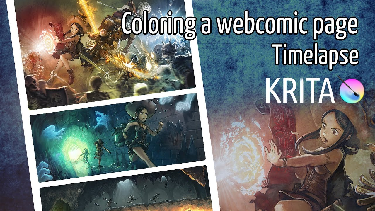 Coloring a webcomic page - YouTube