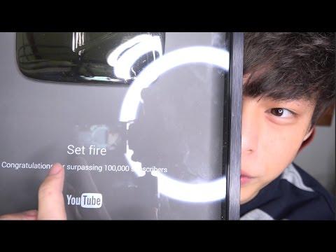 說好的Youtube 10萬訂閱獎牌名稱取『 I love Tzuyu 』... - YouTube