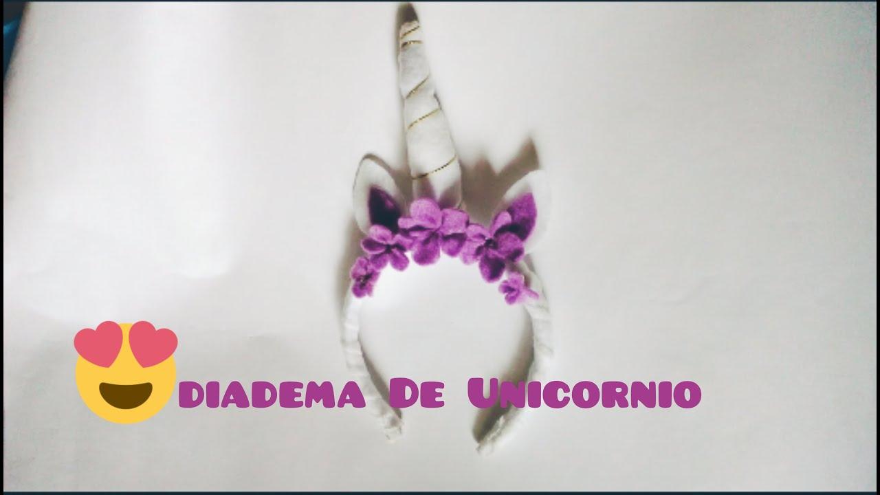 Diy diadema de unicornio facil youtube - Material para hacer diademas ...