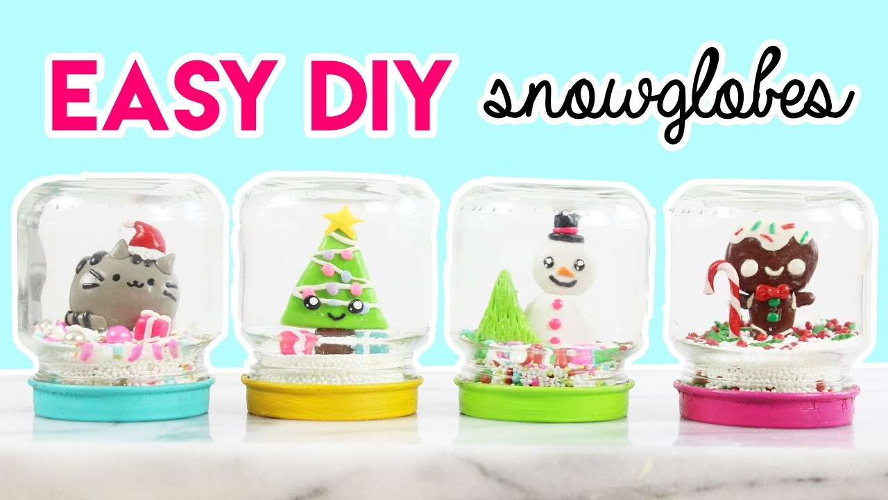 How to Make DIY Snowglobes! - YouTube