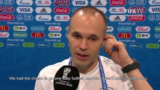 Andres INIESTA (Spain) - Post Match Interview - MATCH 51