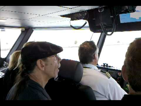 Ferry Ride Cockpit Bridge View. Oakland Alameda San Francisco Taurus Catamaran 1 of 2