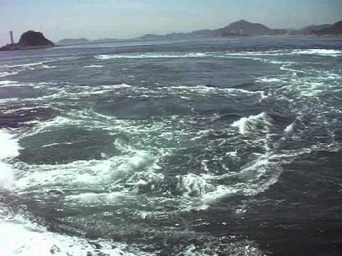 NOT Tsunami, Whirlpool at Naruto Strait 鳴門海峡渦潮・渦の道 Aqua Eddy May 19,2012