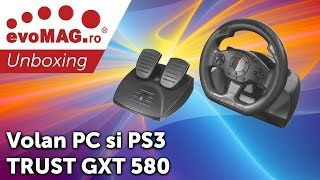 Unboxing Volan pentru PC si PS3 TRUST GXT 580 - evoMAG.ro