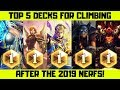 Top 5 Decks For Legend After The February Nerfs In Hearthstone!