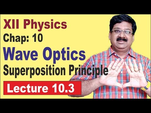 NCERT-XII-Physics-Chap-10.3-Principle of Superposition- wave optics