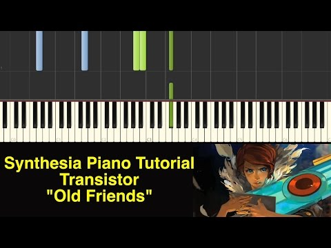 Piano Tutorial - Transistor - Old Friends [Synthesia Piano Tutorial]