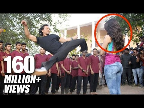 tiger-shroff's-amazing-stunt-with-shraddha-kapoor-for-baaghi-promotions