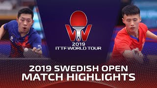 Gambar cover Xu Xin vs Xu Haidong | 2019 ITTF Swedish Open Highlights (R32)