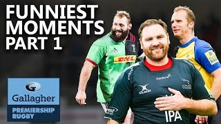 Premiership Rugby's Funniest Moments! | Part 1 | Gallagher Premiership 2020
