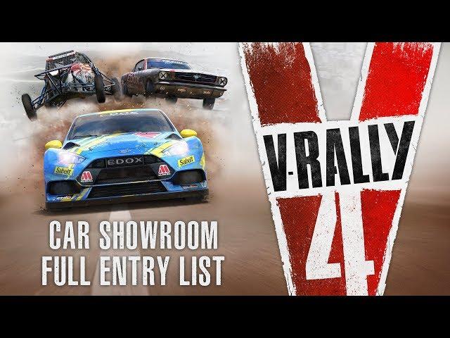 V-RALLY 4 | Car showroom – Full entry list