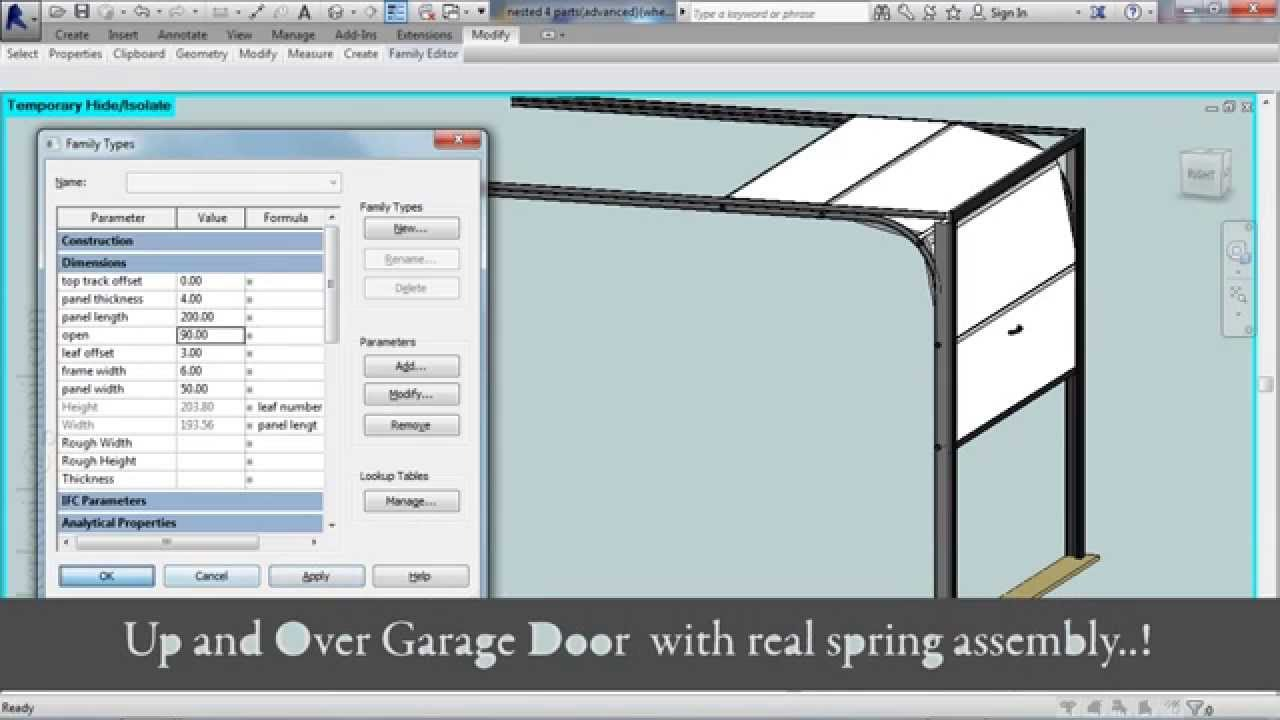 Advanced Sectional Garage Door (Revit Family)   YouTube