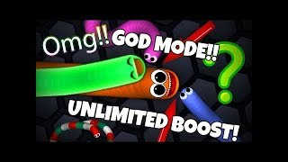 slither.io :: ULTIMATE MOD! [God Mode, Unlimited Boost, Invisibility, Instant Mass, Zoom, Etc]