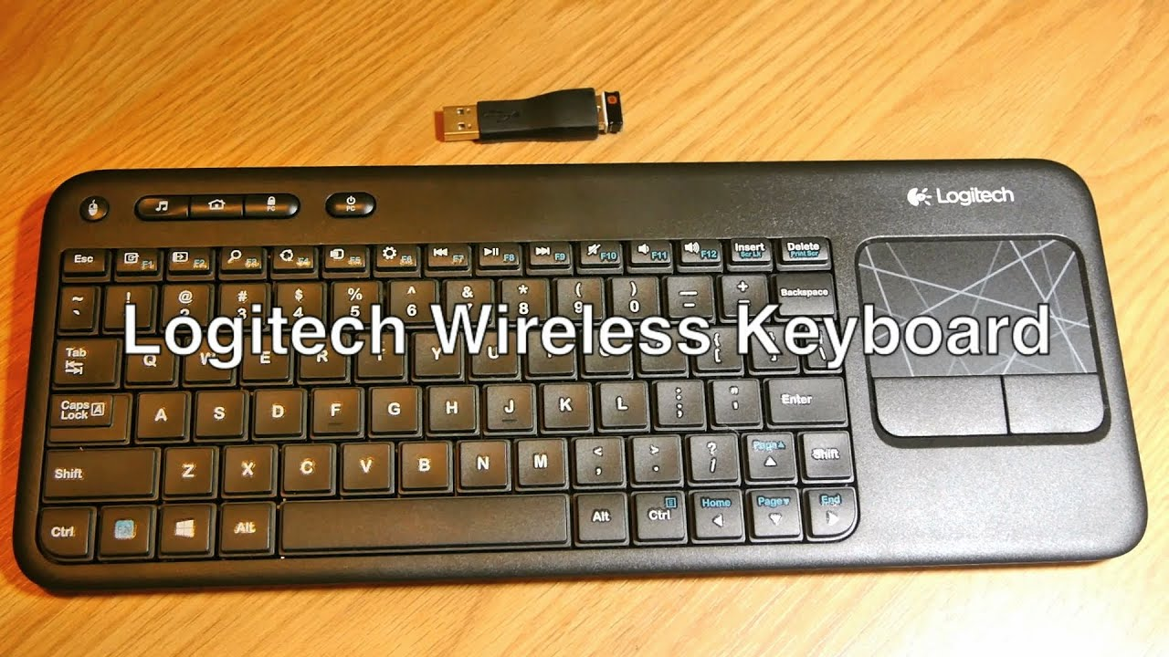 Logitech Wireless Keyboard And Mouse Touchpad Trackpad W Bluetooth For PC Mac Smart TV Pointer