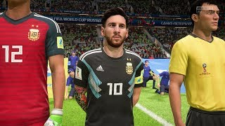 2018 FIFA World Cup Russia - Nigeria vs Argentina (Full Gameplay)