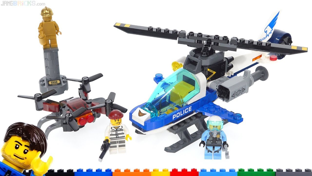 Lego City Sky Police Drone Chase Review 60207 Youtube