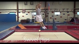 HOW TO DO A SWIVEL HIP ON TRAMPOLINE - TUTORIAL - Gymnastics (How to Learn Swivel Hips)