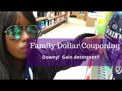 Family Dollar $5 Off $25.  All Digital Couponing.  Downy.  Gain Detergent!!