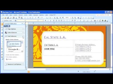 14a microsoft publisher 2007 modifying a business card youtube friedricerecipe Images