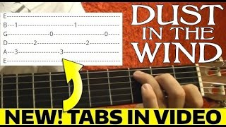 Dust in the Wind - Kansas - Guitar Lesson WITH TABS!