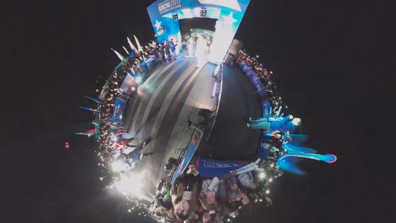 Juegos de invierno del mundo Sochi 2017 militar: 360 video de apertura de ceremonia