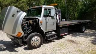 Review of 2000 International 4700 Rollback Flatbed For Sale~7.3L DIESEL~Ready to Work!!